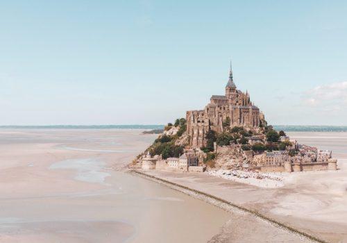 Mont St Michel vue aérienne